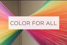 Color For All / The Valspar Paint #ColorForAll Project has a simple mission. To bring color to those who don't have it, and to remind those who do, to appreciate it. We invite you to see the impact color can have by watching our short films and sharing your story with #ColorForAll. / by Valspar