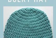 Top it Off (with a Hat)! / Hat, beanie and messy bun hat patterns!