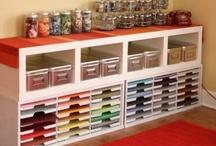 Scrapbook & Craft Rooms / #Scrapbookrooms, #ScrapbookStorage, #ScrapbookOrganization,#Craftroom, #Crafts, #Craftstorage, #Paper, #Scrapbook, #Punches, #Stamps, #Cricut, #Ink, #DesignStudio