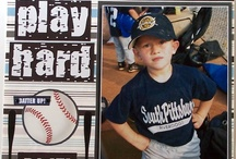 Sports Layouts, & Crafts / #Sport scrapbook pages, #Sports, #Sports layouts, #Scrapbook, #Boy's Scrapbook pages, #Football, #Baseball, #Basketball, #Sport scrapbook ideas