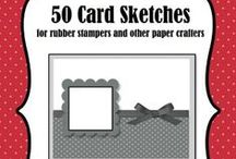 Card Sketches / #Cards - Simple homemade cards., #Handmade cards, #Christmas Cards, #scrapbooking, #Punches, #Homemade cards, #Card sketches