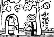 illustrations: black and white