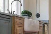Kitchen Goods / Simple farm style kitchen.  Vintage and rustic. / by Hannah Marie
