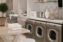 Laundry Room / Laundry room inspiration board! Doing laundry isn't fun, but these rooms make it better!