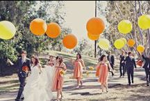 Orange Weddings / Inspiration and ideas on how to theme a vibrant wedding with this bright colour!