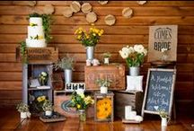 Rustic Weddings / Rustic weddings are full of homespun elements and charming details. Hessian and bright florals set this theme apart. Browse our board for inspiration and ideas.