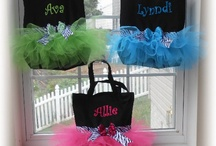 Tutu Tote Bags and Zippered Pouches / by Embroidery Emporium