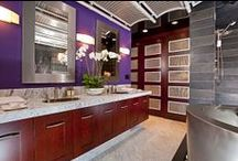 Color of the Year / Ideas on how to incorporate 2014 Pantone Color of the Year --Radiant Orchid into your home's interior.