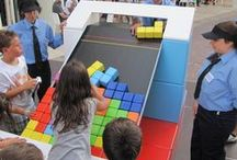 """Event Themes: Larger Than Life / Inspiration for a """"Larger Than Life"""" family board game event night!"""