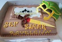 Raveleijn taarten / De stoerste verjaardagstaarten met als thema Raveleijn.