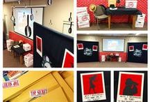 KidMin Set Design Inspiration {252 Basics} / Every month at FBC KIDS, we re-imagine our Large Group environment to fit the theme of that month's curriculum. This board is where we collect our inspiration, and share some of our creations!