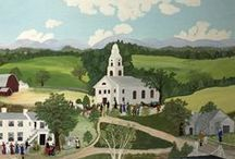 Grandma Moses / I have always admired her.  She began painting sometime after the age of 70.  She never had time before that!  She lived until 101 years of age. I've always wondered what I'll start doing when I'm 70. / by Bertha Phillips