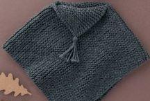Châles, ponchos et autres objets au crochet