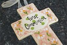 First Holy Communion Gift Ideas / First Holy Communion Gift Ideas - Jewelry, Frames, Crosses, and much more!  #christiangifts