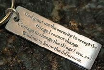 Serenity Prayer Gifts / God grant me the serenity to accept the things I cannot change, courage to change the things I can and the wisdom to know the difference.   #christiangifts  Unique and different products showcasing the Serenity Prayer.
