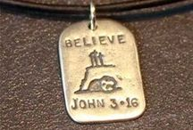 Scripture GodTags by Visible Faith / Sterling Silver Dog Tags with Scripture that can be personalized with names, dates and Scripture Citations.  These are perfect Christian Gifts for Baptism and Confirmation!  #christiangifts