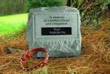 Pet Memorials / Lovely gift ideas to remember a special pet.  You will find Pet Garden Stones... some that can be personalized. #petmemorial