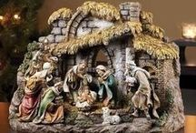 Nativities & Creches / A nativity scene or crèche is a depiction of the birth of Jesus as described in the gospels of Matthew and Luke.  Here you will find some lovely figurines and sets for your home and church.  Some are lighted and some play music.  #christiangifts