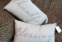 Scripture Pillows / Pillows with Scripture and Inspirational Sayings.  Some are even personalized with names and dates!