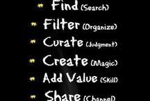 Curador de contenidos / ¿Qué es un curador de contenidos? ¿Qué hace un curador de contenidos? El pedagogo como curador de contenidos... / by Jimena Acebes