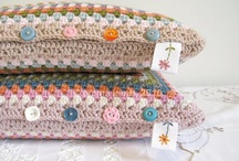 Crochet pillows and blankets