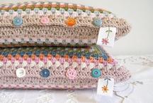 Crochet pillows and blankets