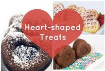 <3 Shaped Treats {Recipes + Ideas} / Everything just tastes better when it's heart shaped!
