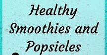 Healthy Smoothies and Popsicles / Delicious and healthy smoothies. Smoothies are a great way to pack a bunch of fruits and veggies into one delicious drink! Make extra to make healthy popsicles for kids. #smoothies #healthy #healthyfood #healthyliving #healthyrecipes Smoothies for weight loss. Smoothie recipes for breakfast, energy, detox. Healthy smoothie recipes. Healthy homemade popsicles.