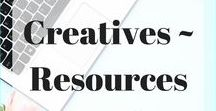 Creatives - Resources, Fonts and Favourites / Creative resources from quality sources. Stock photos, fonts, graphics, social media templates and more! Some pins may be affiliate links to sources that I use and love!