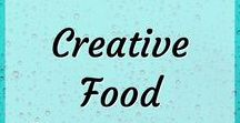 Creative Food / Food is beautiful! We eat with our eyes. Fancy plating. Gorgeous food. Creative ideas for snacks for kids.