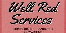"Well Red Services / Well Red offers website design and digital marketing. Email marketing and branding strategy. Blogging tips and resources. Freelance writing. Copywriting and editing. Digital detail management. Be Well Red.  What are ""digital details""? It's content, design and creation. Website design. SEO. Email marketing strategy. Social media. Custom branding and graphics. Copywriting, editing and proofreading. All of the digital details in between.  Be liked. Be followed. Be seen. Be Well Red. wellred.ca"