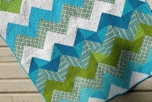 Quilting in blues and greens / Wonderful modern quilted things from around the world!