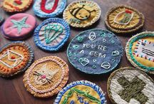 stitched brooches