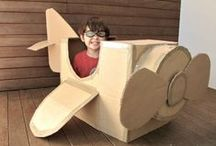[For Fun]: Cardboard Creations / What can you do with a cardboard box?