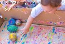 Creative Arts Resource Board for Infants and Toddlers (0-3) / Classroom board for CDEC 1458 for art, music, movement, creative dramatic activities for infants and toddlers