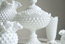 fenton hobnail milkglass / pieces I own