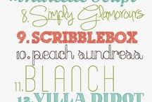 Fonts / by Heather Mullin
