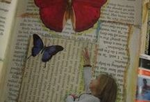 Just Glue It--altered book collage layouts