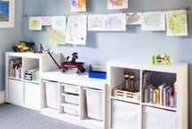 Playroom Organization / The best ideas to organize the playroom.