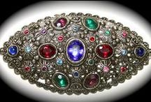 Victorian Jewelry / Old Victorian jewelry from the late 1800s early 1900s ornate and opulent with lots of color plus flora and fauna decorations***** / by Patricia Grant