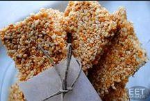 Snacks - Gezonde Tussendoortjes / Gezondere snacks en tussendoortjes. Om mee te nemen voor onderweg of voor een snelle gezonde hap thuis tussendoor.