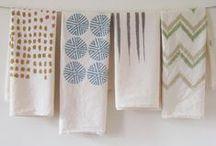 Tea towels and Kitchen Textiles