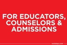 For Educators, Counselors and Admissions / by NextStepU