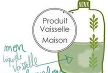 ❤️ PRODUITS BIO POUR LA MAISON FAITS MAISON ❤️ / Recettes pour fabriquer soi-même ses produits d'entretien bio / by bysophieb eco-design