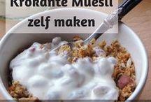 Gezond ontbijt recepten / Gezond ontbijt zonder gluten, geraffineerde suiker of zuivel. Lekkere ontbijt ideetjes :-)