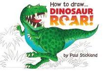 Dinosaurs for kids - Paul Stickland - Dinosaur Roar - Ten Terrible Dinosaurs / Paul Stickland Dinosaurs, dinosaurs for kids!  Paul Stickland illustrated the internationally best selling children's dinosaur books, Dinosaur Roar and Ten Terrible Dinosaurs. Free dinosaur colouring pages and dinosaur masks for kids.  Kid's dinosaur activities and fun paper craft for dinosaur lovers. Everything Dinosaur!
