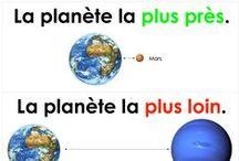 planètes / Alberta science grade 1 curriculum links, mainly kindergarten theme.