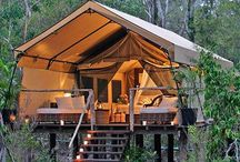 Cabins, cottages, yurts, treehouses / by Kate Kean