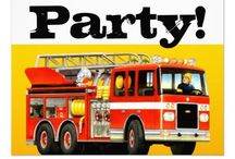 Kid's Fire Truck Party Ideas and Supplies from TruckStore! / Some great gift ideas for a fire truck themed kid's party from Paul Stickland's TruckStore on Zazzle, where you can order a complete custom firetruck birthday party supplies for the young fireman in your life! Great ideas and gifts for a boy's fire truck birthday. A big shiny red fire engine on the best firetruck gifts.
