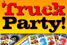Construction Truck Party Supplies - Custom Kid's Party Ideas! / Custom truck and construction party gifts, decorations and supplies for a kid's truck or construction party, then here are some ideas for your boy's BIG TRUCK PARTY! Online truck party invites, truck greetings cards, truck t shirts, stickers, truck party favors, place cards which you can customise to create the best unique construction truck party supplies for kids. The best construction party ideas. Fire trucks, diggers, tractors, bulldozers, cement mixers and big trucks for kid's parties.